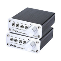 2pcs Digital 4 In 4 Out 3.5mm Mp3 Audio Signal Switcher for Headphone w/ 4 Cable