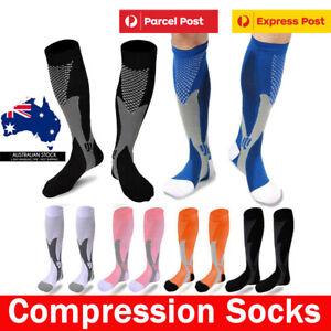 Compression Socks Copper Medical Stockings Anti Fatigue Travel Running Unisex AU