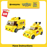 Enlighten Building Blocks Pokemon Series Street PikaChu Mini Car Van Fit Mega