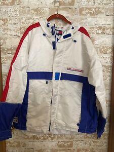 VINTAGE Rare Tommy Hilfiger Sailing Gear Jacket Adult Men's Adult L White 90s OG