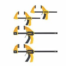 Dewalt Medium Large Trigger Bar Clamp 4 Pack Clamps Woodworking Wood Hand Tool