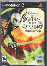 Video Game - Sony PS2 NIGHTMARE BEFORE CHRISTMAS OOGIE'S REVENGE Factory Sealed