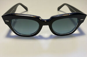 RAY BAN RB2186 STATE STREET 12943M POLISHED BLACK ON TRANSPARENT GRADIENT GREY