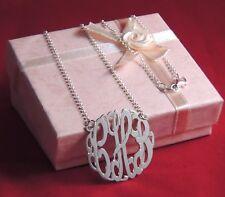 "Handmade Sterling Silver Personalized Monogram Necklace 1.25"" *Handmade Item*"