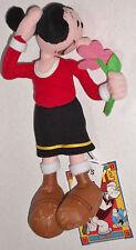 "NWT New 10"" CVS Stuffins POPEYE Olive Oyl with Flower Plush Doll Toy"