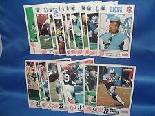 1989 & 1990 LIONS POLICE FOOTBALL - (2) COMP SETS (24) NFL CARDS ! BARRY SANDERS
