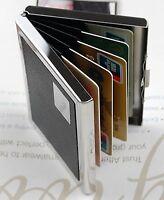 HBIE Travel Wallet Card Holder - Stainless Steel RFID Blocking Wallet 7 cards