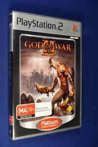 GOD OF WAR II  PLAYSTATION 2 GAME - Complete Australian PAL Platinum