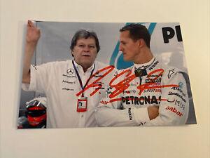 Michael Schumacher Signed Photo 6x4 Genuine Autograph In Person