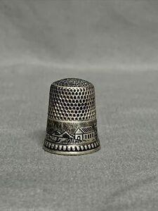 Sterling Silver Thimble, Size 9, Farmhouse Design