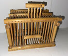 Vintage Chinese Bamboo Handmade Insect Cricket Cage House