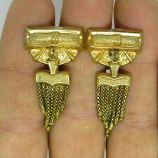 """Tassel Earrings Screw-Backs 1 3/4"""" L Antique Victorian 12K Gold Filled Hollow"""