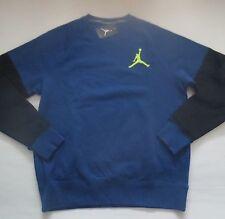 Nike Men Jordan Varsity Crew Sweatshirt 689002 - Blue 449 - Size L - NWT
