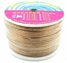DNF 12 GAUGE 250 FEET CLEAR SPEAKER WIRE FOR HOME CAR AUDIO - SHIPS FREE TODAY!