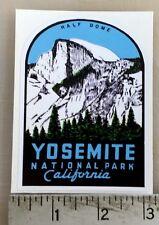 Yosemite National Park Half Dome vintage retro sticker decal