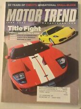 Motor Trend Magazine Ford Gt Vs Ferrari F430 June 2005 051819nonrh
