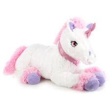 XXL Kuschel Einhorn in weiß Plüschtier Unicorn Stofftier kuschelweich 100 cm