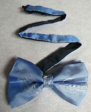 Nuevo De lujo seda MENS corbata de Moño Bowtie Pluma Gancho De Pesca Azul Cielo Brillante