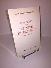 Entretiens sur le neveu de Rameau par Michèle Duchet et Michel Launay