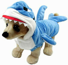 New Fun and Adorable Blue Shark Pet Halloween Costume Small Hoodie Warm