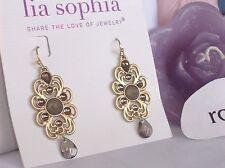 "Lia Sophia Gold ""MADEIRA"" Dangle Earrings, M-O-P, NWT"