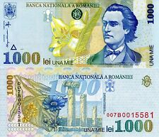ROMANIA 1000 Lei Banknote World Paper Money UNC Currency Pick p106 Bill Note