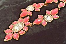 Oscar de la Renta Necklace Choker Pink Fuschia Designer Runway BOLD Pear NEW