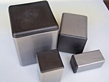 """Plastic Insert Plugs the open end of 2"""" Square Steel Tube 3/16"""" wall thickness"""