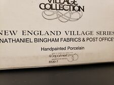 Department 56 New England Village Series Nathaniel Bingham Fabrics & Post Office