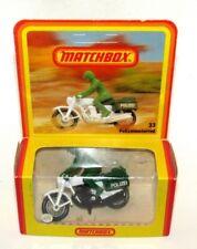 Matchbox Superfast German Issue No 33 Police Motorcyclist GREEN POLIZEI MIB RARE