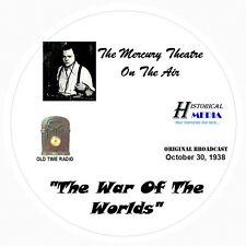 WAR OF THE WORLDS ORIGINAL BROADCAST - Old Time Radio OTR On 1 Audio CD 52 Mins