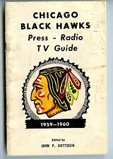 1959-60  Chicago Black Hawks  Media Guide FIRST GUIDE