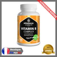 Vitamine B Fort dosage Vegetalien 180 Comprimes B1 B2 B3 B5 B6 B7 B9 B12 Vegan