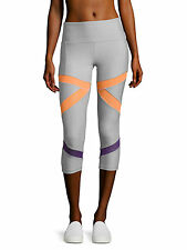X by Gottex Women Light Grey X Shape Power Capri Leggings NWT Size S 73$