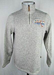 Washington Capitals NHL Men's CCM Official Vintage 1/4 Zip Knit Sweater