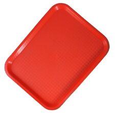Sunnex large rossa in plastica Fast food Vassoio Bevande Snack Cena TV Lap al servizio café