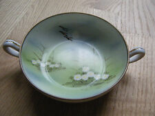 Hand Painted Small Ceramic Nippon Bowl with Handles
