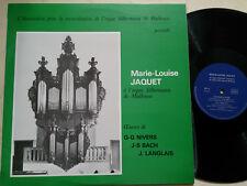 JAQUET MARIE-LOUISE Silbermann Orgel Mulhouse NIVERS, BACH, LANGLAIS *SIGNIERT*