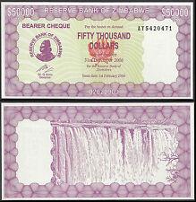 ZIMBABWE 50000 DOLLARS (P30) 2006 UNC