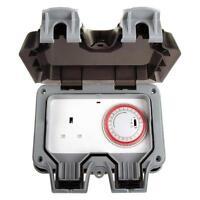 BG Nexus Weatherproof Timer Controlled Outdoor 13A Power Socket IP66 WP23TM24