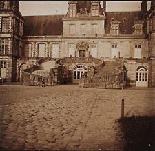 Château de Fontainebleau Photo Stereo R1 Verre Positive Vintage 1909