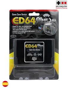 Cartucho Flash Nintendo 64, ED64 plus. 32GB SD Flash Cartridge NTSC PAL