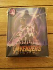 Blufans Avengers Infinity War  2D/3D Blu Ray Lenticular Slip Steelbook New!!
