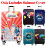 19-32in Elastic Luggage Case Protector Cover World Map Suitcase Travel Decor