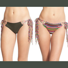 NEW SolKissed Iquitos Stripe Side Tie Bikini Bottoms [SZ  Large ] #R161