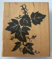 Ivy or Grape Leaf Branch Rubber Stamp by JRL Design 3.25 x 2.5 Wood Mounted