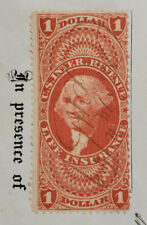 RARE US R71c $1 Life Insurance 4 Perforations First Issued US Revenue 1862-1871