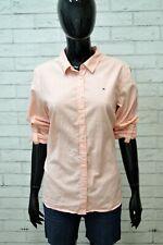 TOMMY HILFIGER Camicia Cotone Donna Taglia L Shirt Woman Camicetta Casual Chic