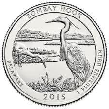 2015 D  BOMBAY HOOD (DE) -  America the Beautiful Quarter    BU