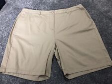 M&S  Women Natural 100% Cotton Casual Shorts BNWT Size 16 Free Sameday Postage